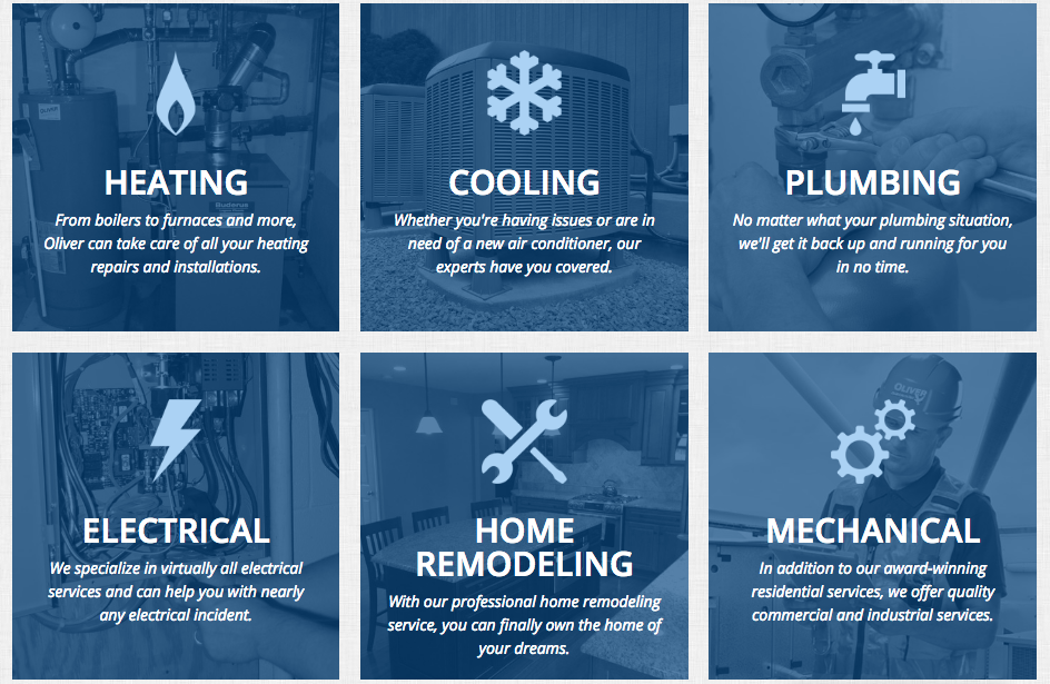 HVAC and plumbing company services