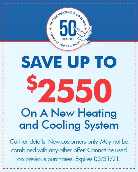 Save $2550 On A New HVAC System