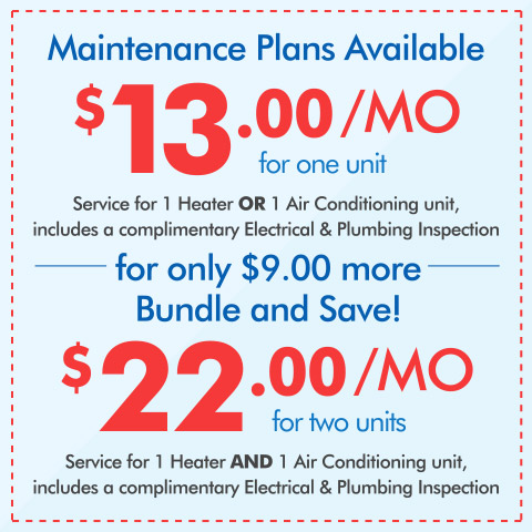 Maintenance Plans As Low As $13/Month
