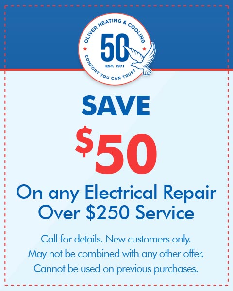 Save $50 On Any Electrical Repair