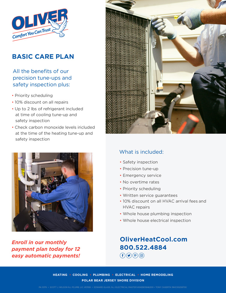 Oliver HVAC Basic Care Plan