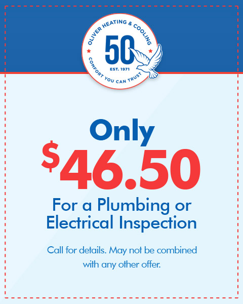Whole Home Electrical or Plumbing Inspection Only $46.50