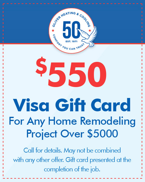 $550 Visa Gift Card For Any Home Remodeling Project Over $5000